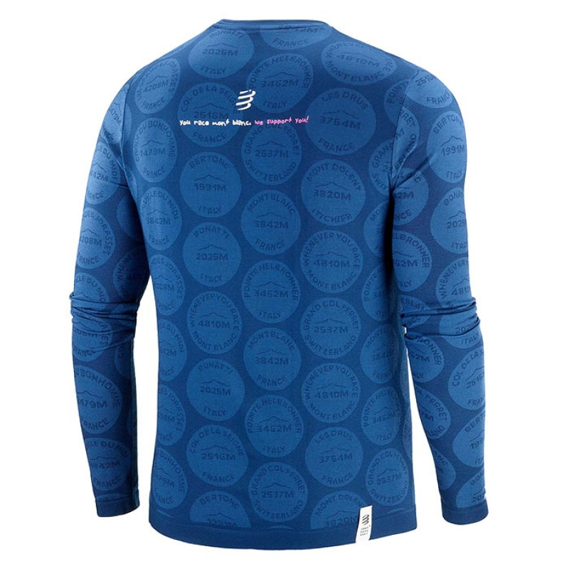 TRAINING TSHIRT LS BADGES MONT BLANC 2020