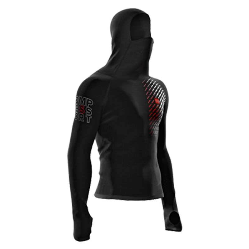 3D THERMO ULTRALIGHT RACING HOODIE PRETO
