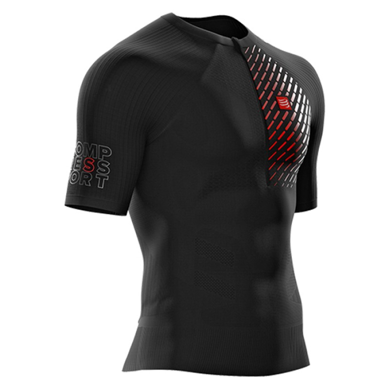 TRAIL RUNNING POSTURAL SS TOP PRETO