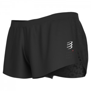 RACING SPLIT SHORT BLACK