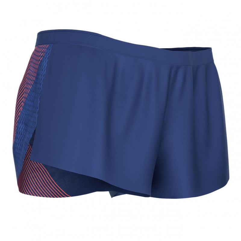 RACING SPLIT OVERSHORT BLUE