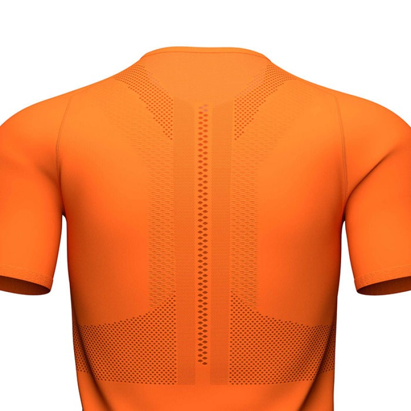 TRAIL HALF ZIP FITTED SS TOP CORCUMA