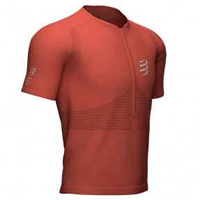 TRAIL HALF ZIP FITTED SS TOP RED CLAY