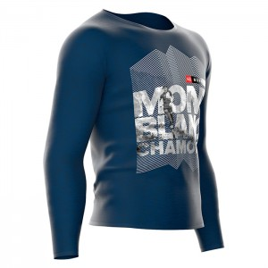 TRAINING T-SHIRT LS - MONT BLANC 2018 AZUL