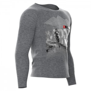 TRAINING T-SHIRT LS - MONT BLANC 2018 GREY