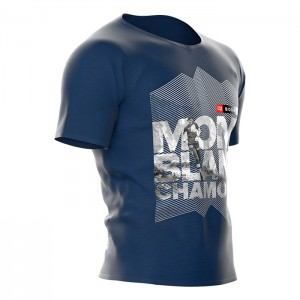 TRAINING T-SHIRT SS - MONT BLANC 2018 AZUL