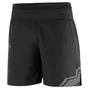 XA TRAINING SHORT BLACK/REFLECTIVE