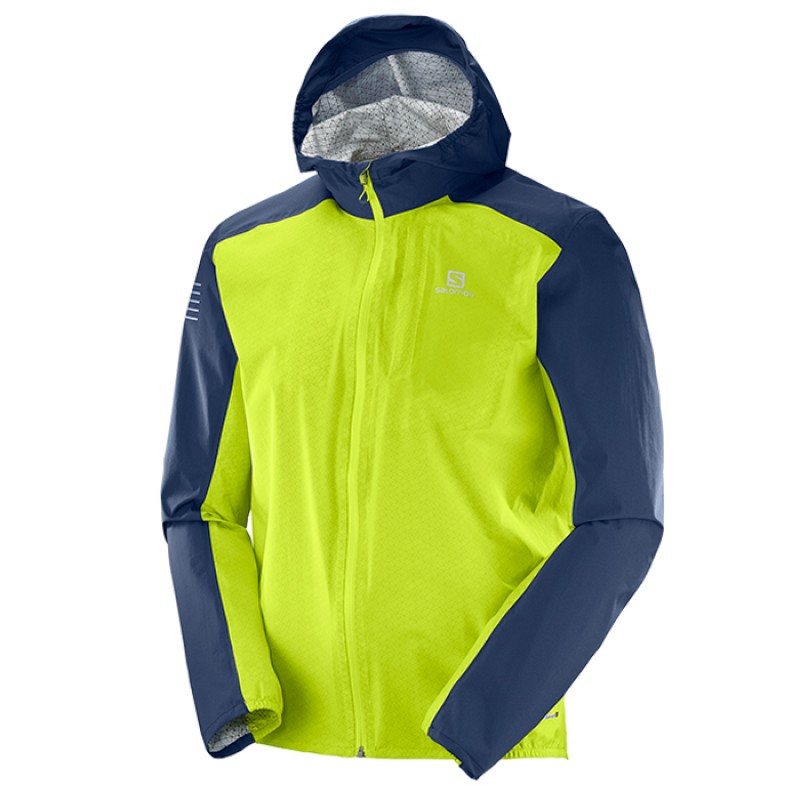 BONATTI WP JACKET ACID LIME/DRESS BLUE