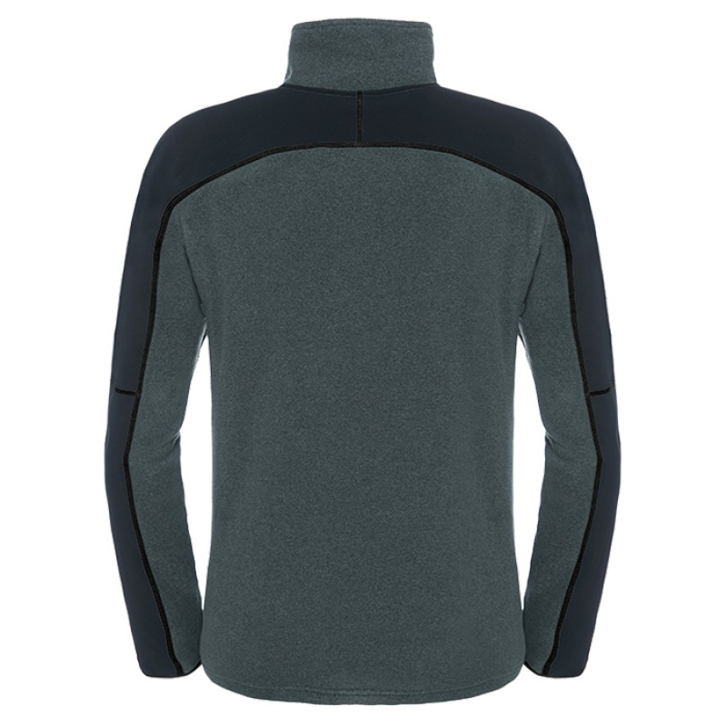 GLACIER DELTA 1/4 ZIP FUSEBOX GREY BLACK HEATHR