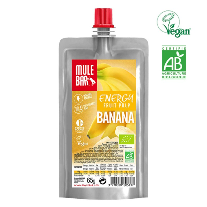 ORGANIC - FRUIT PULP VEGAN BANANA