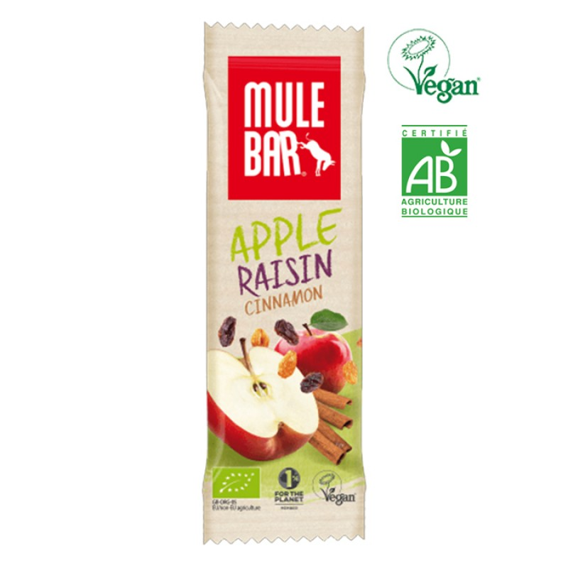 MULEBAR VEGAN ORGANIC APPLE RAISIN CINNAMON