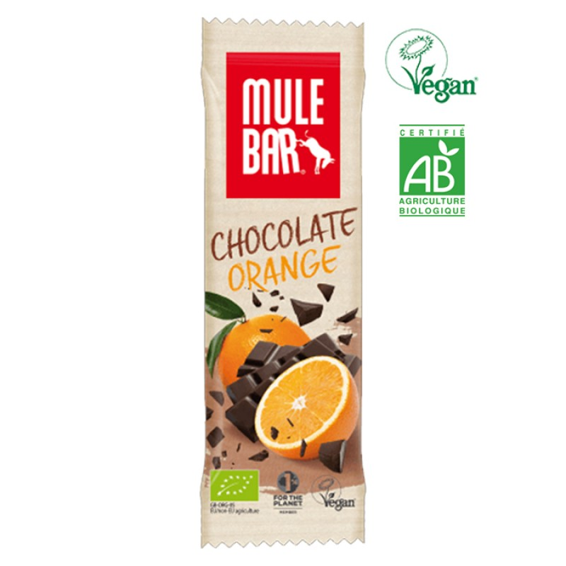 MULEBAR VEGAN ORGANIC CHOCOLATE AND ORANGE