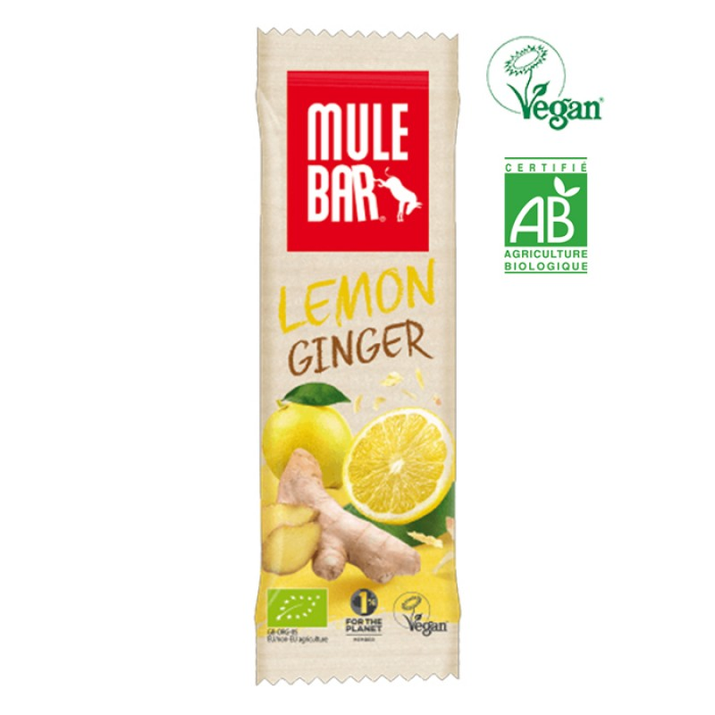 MULEBAR VEGAN ORGANIC  LEMON AND GINGER