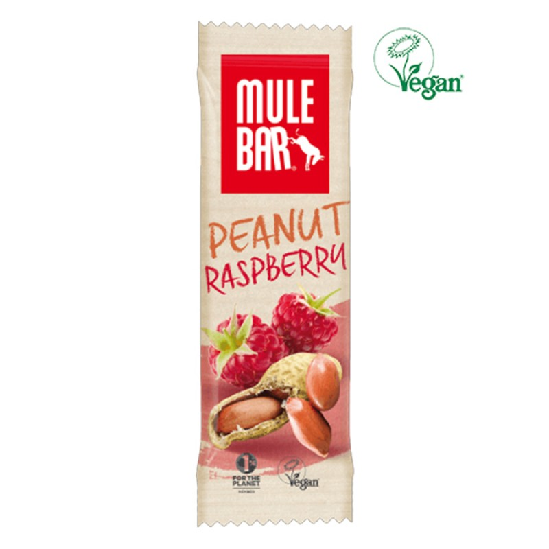 MULEBAR VEGAN PEANUT AND RASPBERRY