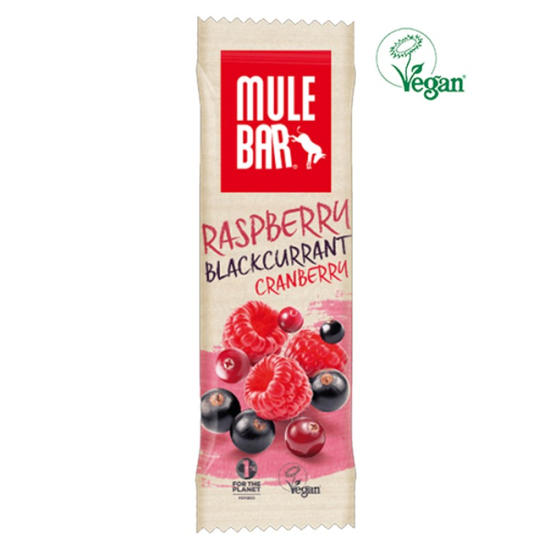 MULEBAR VEGAN RASPBERRY AND BLACKCURRANT CRANBERRY